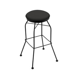 3020 Swivel Stool with Black Wrinkle Finish and Canter Iron Seat