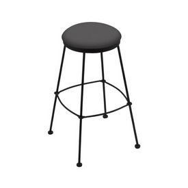 3030 Stationary Stool with Black Wrinkle Finish and Canter Storm Seat