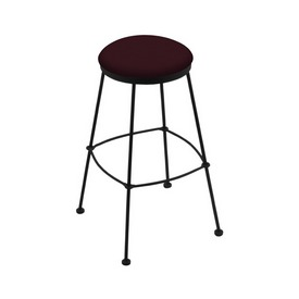 3030 Stationary Stool with Black Wrinkle Finish and Canter Bordeaux Seat