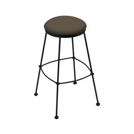 3030 Stationary Stool with Black Wrinkle Finish and Canter Earth Seat