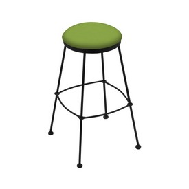 3030 Stationary Stool with Black Wrinkle Finish and Canter Kiwi Green Seat