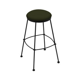 3030 Stationary Stool with Black Wrinkle Finish and Canter Pine Seat