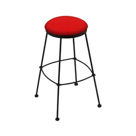3030 Stationary Stool with Black Wrinkle Finish and Canter Red Seat
