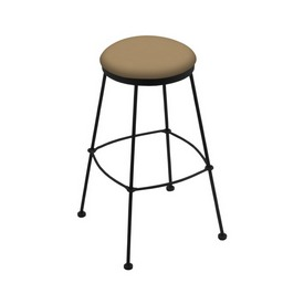 3030 Stationary Stool with Black Wrinkle Finish and Canter Sand Seat