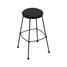3030 Stationary Stool with Black Wrinkle Finish and Graph Coal Seat