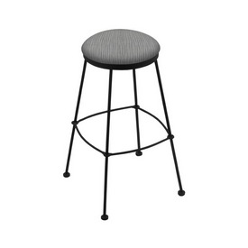 3030 Stationary Stool with Black Wrinkle Finish and Graph Alpine Seat