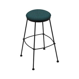 3030 Stationary Stool with Black Wrinkle Finish and Graph Tidal Seat