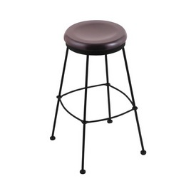 3030 Stationary Stool with Black Wrinkle Finish and Dark Cherry Maple Seat