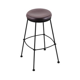 3030 Stationary Stool with Black Wrinkle Finish and Dark Cherry Oak Seat