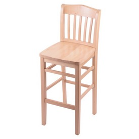 3110 Stool with Natural Finish and a Natural Seat