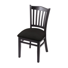 """3120 18"""" Chair with Black Finish and Canter Espresso Seat"""