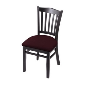 """3120 18"""" Chair with Black Finish and Canter Bordeaux Seat"""