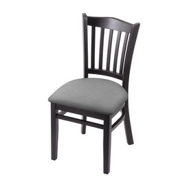 """3120 18"""" Chair with Black Finish and Canter Folkstone Grey Seat"""