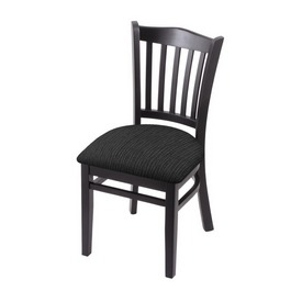 """3120 18"""" Chair with Black Finish and Graph Coal Seat"""