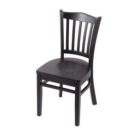"""3120 18"""" Chair with Black Finish and Black Seat"""