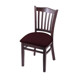 """3120 18"""" Chair with Dark Cherry Finish and Canter Bordeaux Seat"""