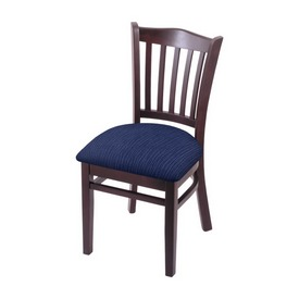 """3120 18"""" Chair with Dark Cherry Finish and Graph Anchor Seat"""