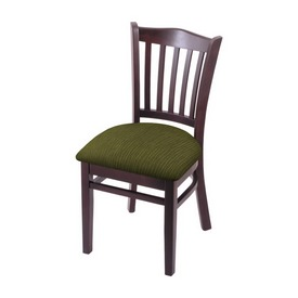 """3120 18"""" Chair with Dark Cherry Finish and Graph Parrot Seat"""