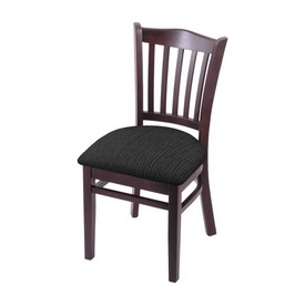 """3120 18"""" Chair with Dark Cherry Finish and Graph Coal Seat"""
