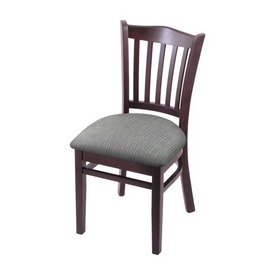 """3120 18"""" Chair with Dark Cherry Finish and Graph Alpine Seat"""