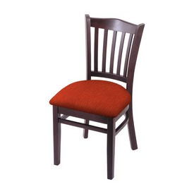 """3120 18"""" Chair with Dark Cherry Finish and Graph Poppy Seat"""