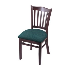 """3120 18"""" Chair with Dark Cherry Finish and Graph Tidal Seat"""