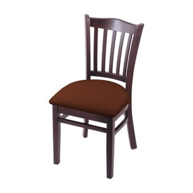 """3120 18"""" Chair with Dark Cherry Finish and Rein Adobe Seat"""
