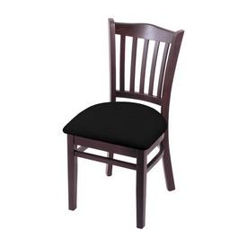 "3120 18"" Chair with Dark Cherry Finish and Black Vinyl Seat"