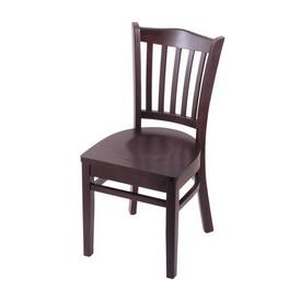 """3120 18"""" Chair with Dark Cherry Finish and Dark Cherry Seat"""