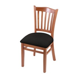 """3120 18"""" Chair with Medium Finish and Canter Espresso Seat"""