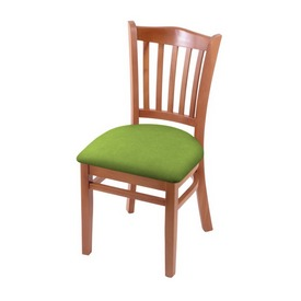 """3120 18"""" Chair with Medium Finish and Canter Kiwi Green Seat"""