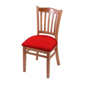 """3120 18"""" Chair with Medium Finish and Canter Red Seat"""
