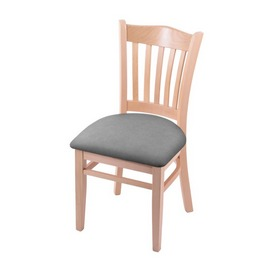 """3120 18"""" Chair with Natural Finish and Canter Folkstone Grey Seat"""