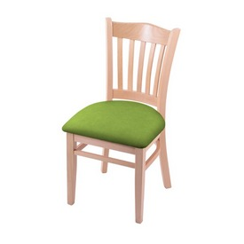 """3120 18"""" Chair with Natural Finish and Canter Kiwi Green Seat"""