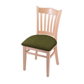 """3120 18"""" Chair with Natural Finish and Graph Parrot Seat"""