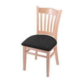 """3120 18"""" Chair with Natural Finish and Graph Coal Seat"""