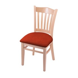"""3120 18"""" Chair with Natural Finish and Graph Poppy Seat"""