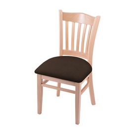 """3120 18"""" Chair with Natural Finish and Rein Coffee Seat"""