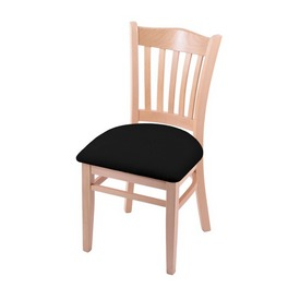 """3120 18"""" Chair with Natural Finish and Black Vinyl Seat"""
