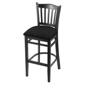 "3120 25"" Counter Stool with Black Finish and Canter Espresso Seat"