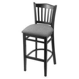"3120 30"" Bar Stool with Black Finish and Canter Folkstone Grey Seat"