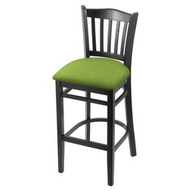"""3120 30"""" Bar Stool with Black Finish and Canter Kiwi Green Seat"""