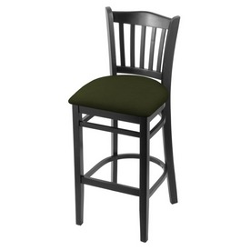 """3120 30"""" Bar Stool with Black Finish and Canter Pine Seat"""