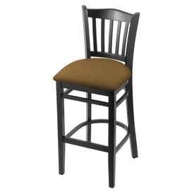 "3120 25"" Counter Stool with Black Finish and Canter Saddle Seat"