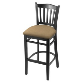"3120 30"" Bar Stool with Black Finish and Canter Sand Seat"