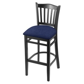 "3120 30"" Bar Stool with Black Finish and Graph Anchor Seat"