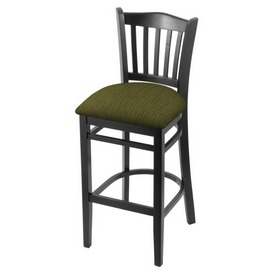 """3120 30"""" Bar Stool with Black Finish and Graph Parrot Seat"""