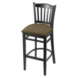 """3120 30"""" Bar Stool with Black Finish and Graph Cork Seat"""