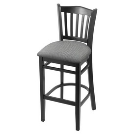 """3120 30"""" Bar Stool with Black Finish and Graph Alpine Seat"""
