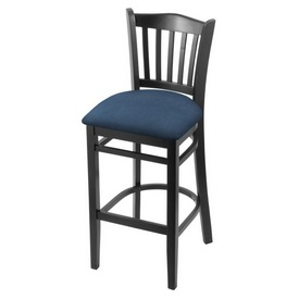 "3120 30"" Bar Stool with Black Finish and Rein Bay Seat"